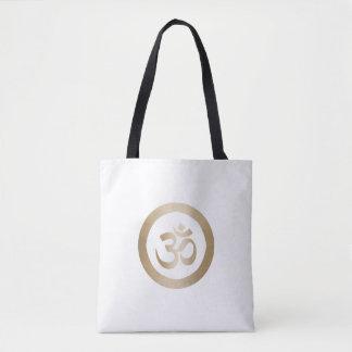 Yoga-Goldkreis u. OM-Symbol Tasche