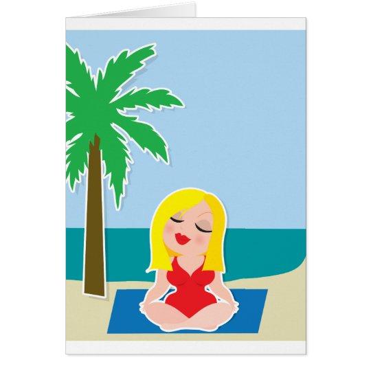 Yoga-Hintergrund Grußkarte