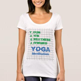 YOGA Ihr eigener Größe bestätigter T-Shirt