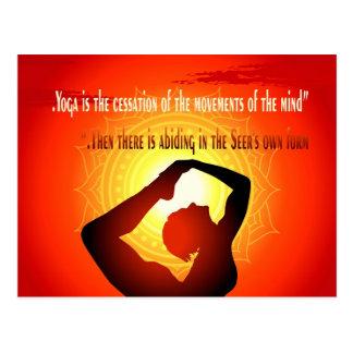 """""""Yoga ist die Aufgabe der Bewegungen des Postkarte"""