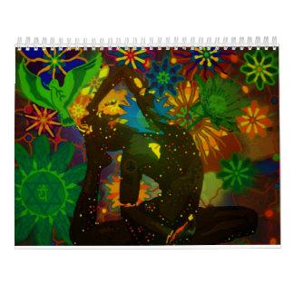 Yoga-Kunst-Kalender durch Karmym für 2016 Kalender