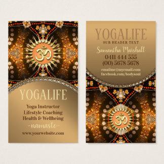 Yoga-Leben-Karamell-Gold-OM-Zeitalter-Visitenkarte Visitenkarte