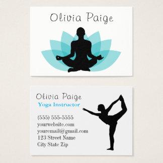 Yoga-Lehrer-Meditations-Lotos-Blume weiblich Visitenkarte