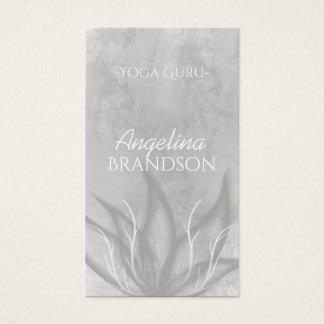 Yoga-Lehrer Stylized Lotos-Blumen-Grau-Karte Visitenkarte