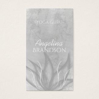 Yoga-Lehrer Stylized Lotos-Blumen-Grau-Karte Visitenkarten