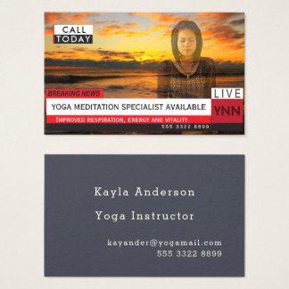 Yoga-Meditations-Fake-Nachrichten-grafische Visitenkarte