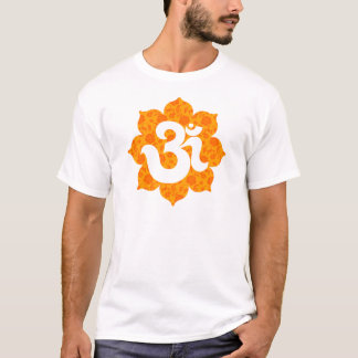 Yoga OM in Lotus-Orange T-Shirt