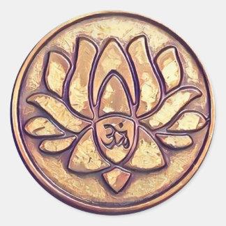 Yoga-OM-Symbol Runder Aufkleber