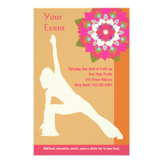 Yoga-Pose-Flyer 14 X 21,6 Cm Flyer