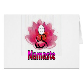 "Yoga-Pose mit Lotos-Blume ""Namaste "" Grußkarte"