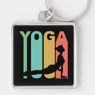 Yoga-Retro Entwurf Schlüsselanhänger