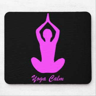 Yoga ruhiges Mousepad Rosa auf Schwarzem