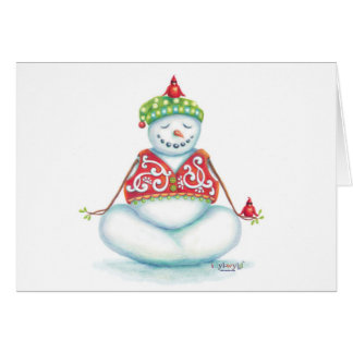 Yoga Snowman-Weihnachtskarten-Skandinavier-Flair Grußkarte