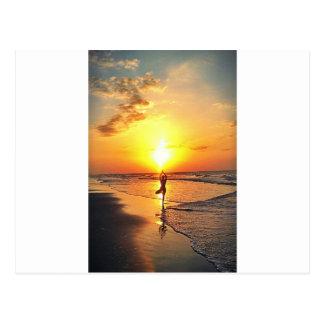 Yoga-Sonnenaufgang Postkarte