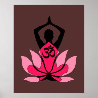 Yoga spirituel de fleur d'OM Namaste Lotus dans Poster