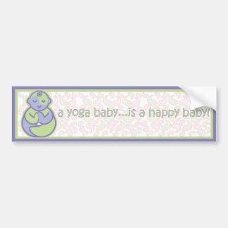 Yoga spricht Baby: Glücklicher Baby-Aufkleber - Autoaufkleber
