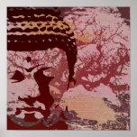 Yoga spricht: Buddha-Baum-Druck Plakate