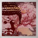 Yoga spricht: Buddha-Baum-Grafik Plakat