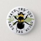Yoga spricht: Retten Sie die Biene… retten die Runder Button 5,1 Cm