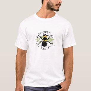 Yoga spricht: Retten Sie die Biene… retten die T-Shirt