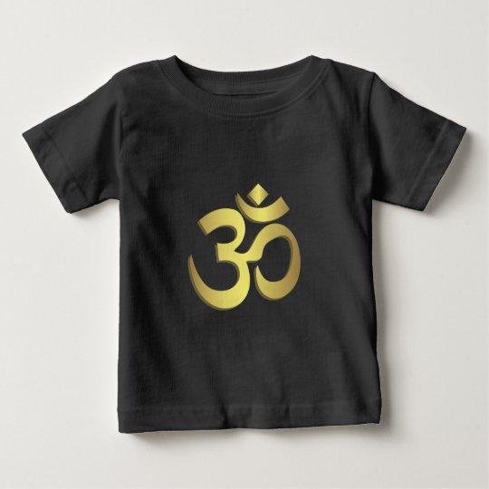Yogasymbolschwarz-Baby-Shirt OM (Om) Namaste Baby T-shirt