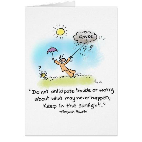 """Yogi-Ameise """"behalten im Sonnenlicht """" Grußkarte"""