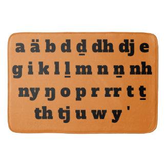 Yolŋu Alphabet-Matte Badematte