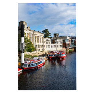 York-Rathaus und Fluss Ouse Memo Boards