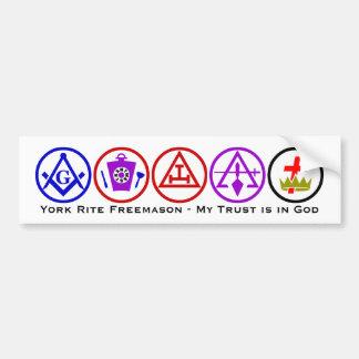 York-Ritus-Vertrauen im Gott Autoaufkleber