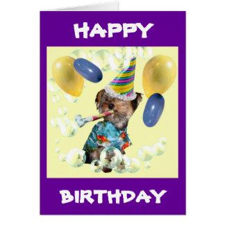 Yorkie alles- Gute zum Geburtstagkarte Karte