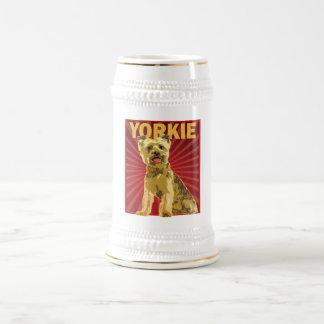 Yorkie Hundebesitzer Bierglas