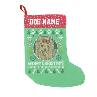 Yorkie Hundezucht-hässliche Weihnachtsstrickjacke Kleiner Weihnachtsstrumpf