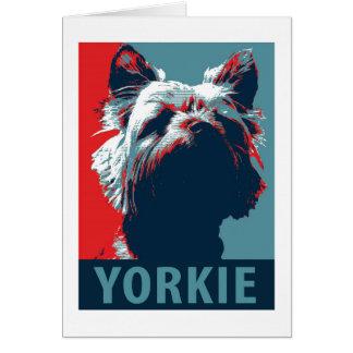 Yorkie Terrier politischer Parodie-Entwurf Karte