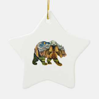 Yosemite-Anrufe Keramik Stern-Ornament