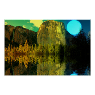 Yosemite-Blue-moonSet-1 Poster