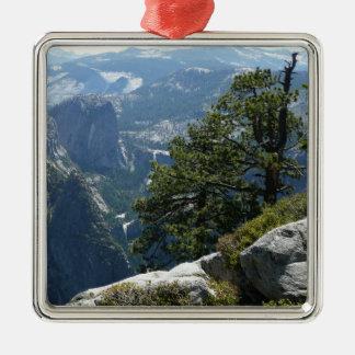 Yosemite-Mountain View in Yosemite Nationalpark Silbernes Ornament