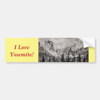 Yosemite-Park im Winter Autoaufkleber
