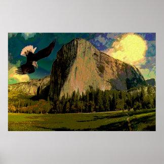 Yosemite-set-1 abstrakt posterdruck