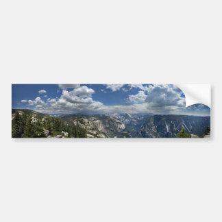Yosemite-Tal und halbe Haube von Eagle-Spitze Autoaufkleber
