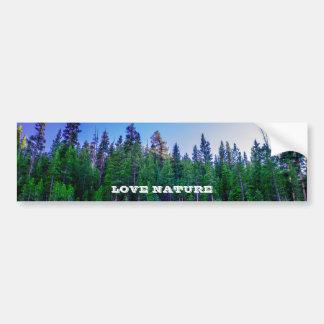 Yosemite-Tal-Wald u. Himmel Autoaufkleber