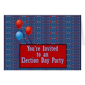 You' Re eingeladen zu einem Wahltag-Party Karte