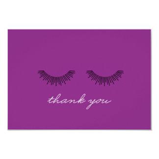 Younique danken Ihnen, lila Eyelashes zu merken Karte