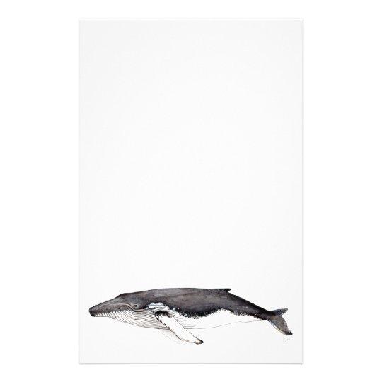 Yubarta, buckliger Wal, Briefpapier