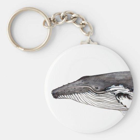 Yubarta, buckliger Wal, Standard Runder Schlüsselanhänger