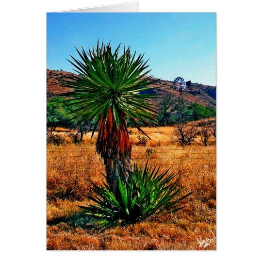 Yucca trifft Windmühle Mitteilungskarte