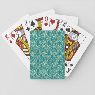YUM Frühstücks-Damast-Muster-Kunst Pokerdeck