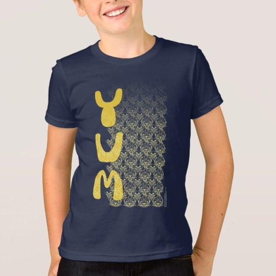 YUM Frühstücks-Damast-Muster-Kunst T-Shirt