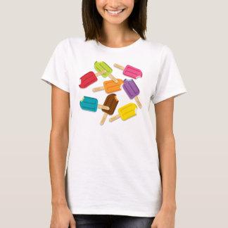 Yum! Popsicle Spaghetti-Bügel Behälter T-Shirt
