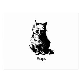 Yup. Katze Postkarte