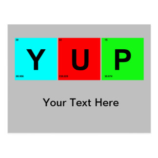 YUP Periodensystem-Art Postkarte